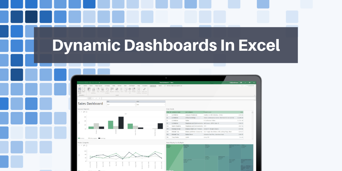 Dynamic dashboard design and reporting in Excel blog header