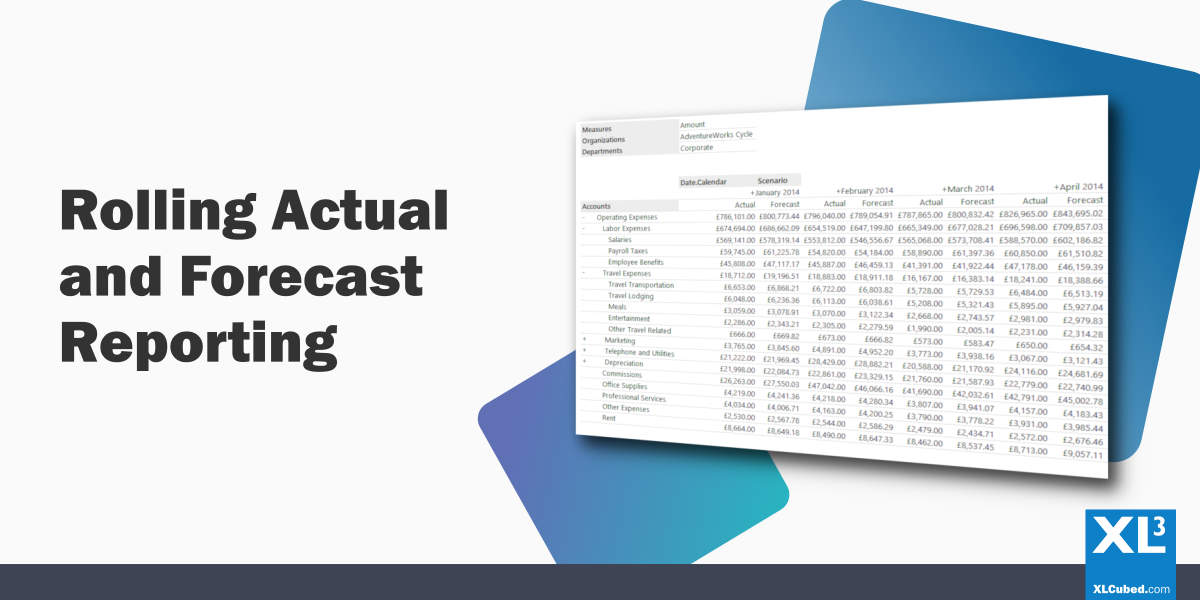 Rolling Forecast Reporting In Excel XLCubed Blog Header