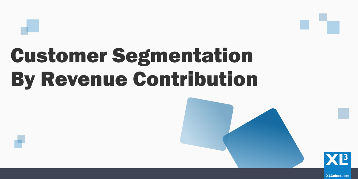 Customer Segmentation XLCubed blog header